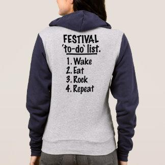 Festival 'to-do' list (blk) hoodie