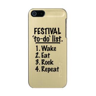 Festival 'to-do' list (blk) incipio feather® shine iPhone 5 case