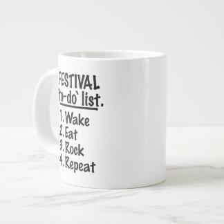 Festival 'to-do' list (blk) large coffee mug