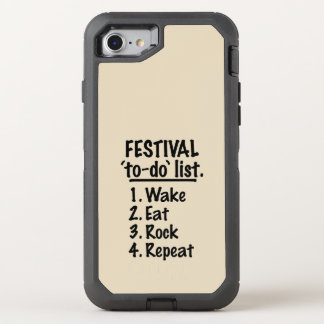 Festival 'to-do' list (blk) OtterBox defender iPhone 8/7 case