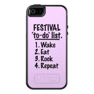 Festival 'to-do' list (blk) OtterBox iPhone 5/5s/SE case