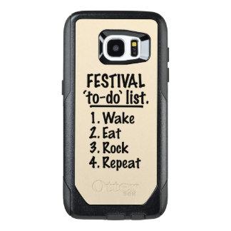 Festival 'to-do' list (blk) OtterBox samsung galaxy s7 edge case