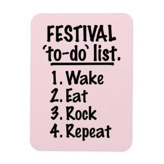Festival 'to-do' list (blk) rectangular photo magnet