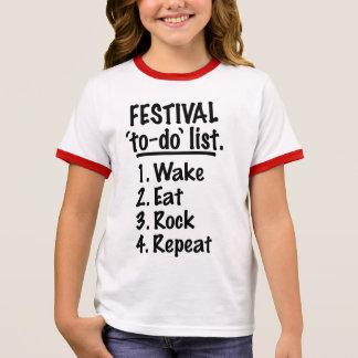 Festival 'to-do' list (blk) ringer T-Shirt