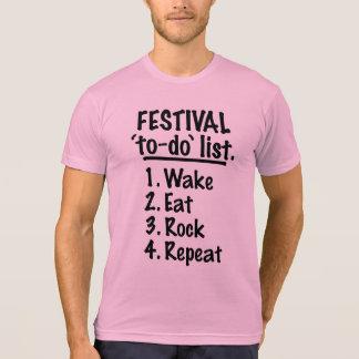 Festival 'to-do' list (blk) T-Shirt