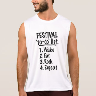 Festival 'to-do' list (blk) tank top