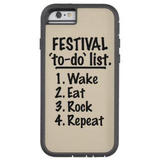Festival 'to-do' list (blk) tough xtreme iPhone 6 case