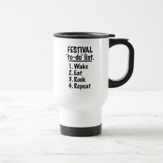 Festival 'to-do' list (blk) travel mug