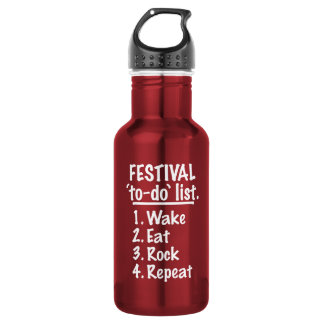 Festival 'to-do' list (wht) 532 ml water bottle