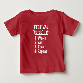 Festival 'to-do' list (wht) baby T-Shirt