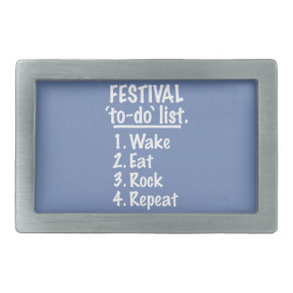 Festival 'to-do' list (wht) belt buckles