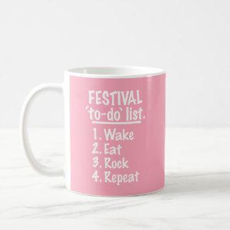 Festival 'to-do' list (wht) coffee mug