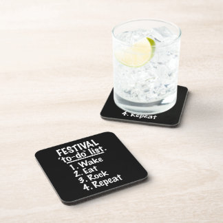 Festival 'to-do' list (wht) drink coaster
