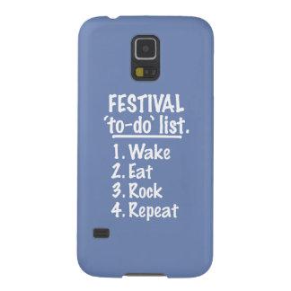 Festival 'to-do' list (wht) galaxy s5 case