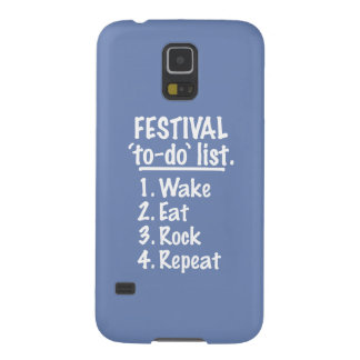 Festival 'to-do' list (wht) galaxy s5 covers