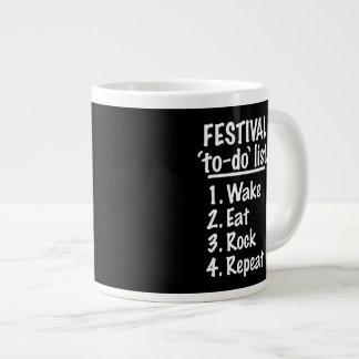 Festival 'to-do' list (wht) giant coffee mug