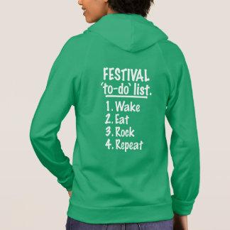 Festival 'to-do' list (wht) hoodie