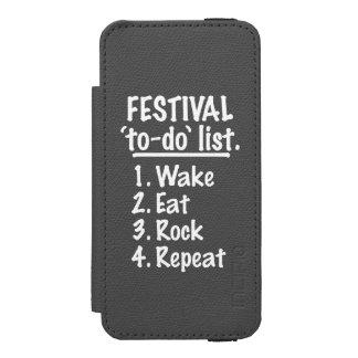 Festival 'to-do' list (wht) incipio watson™ iPhone 5 wallet case
