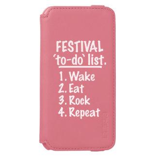 Festival 'to-do' list (wht) incipio watson™ iPhone 6 wallet case