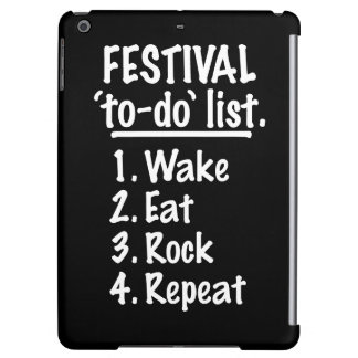 Festival 'to-do' list (wht) iPad air case