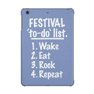 Festival 'to-do' list (wht) iPad mini cover