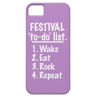 Festival 'to-do' list (wht) iPhone 5 cover