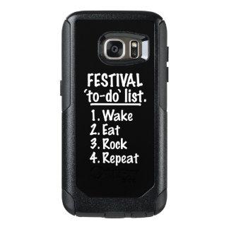 Festival 'to-do' list (wht) OtterBox samsung galaxy s7 case