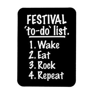 Festival 'to-do' list (wht) rectangular photo magnet