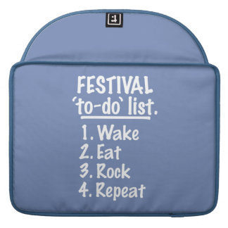 Festival 'to-do' list (wht) sleeve for MacBooks