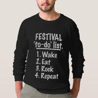 Festival 'to-do' list (wht) sweatshirt