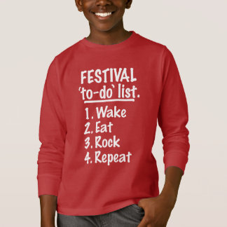 Festival 'to-do' list (wht) T-Shirt