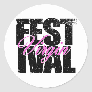 Festival Virgin (blk) Classic Round Sticker