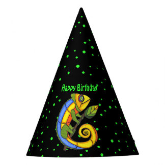 Festive Abstract Smiling Colorful birthday Lizard Party Hat