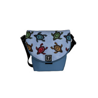 Festive Abstract Turtles Colored shells Messenger Bag