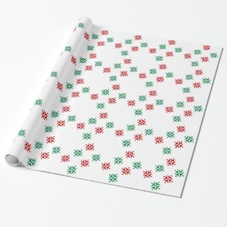 Festive Airplane Snowflakes Wrapping Paper