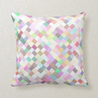 Festive and Colorful Pastel Throw Pillow