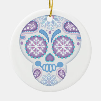 Festive and Frosty, Sugar Skull Christmas Ornament