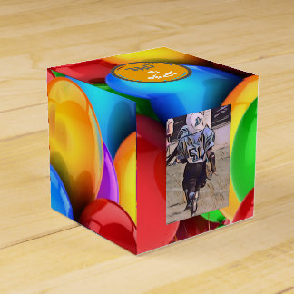 Festive Balloon Party Favor Box. Favor Box
