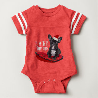 Festive BARK Humbug French Bulldog Baby Bodysuit