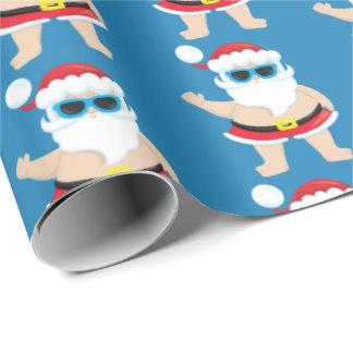 Festive beach Santa Holiday tiled party wrap