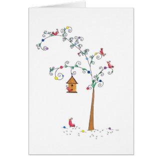 Festive Birds, Blank Card