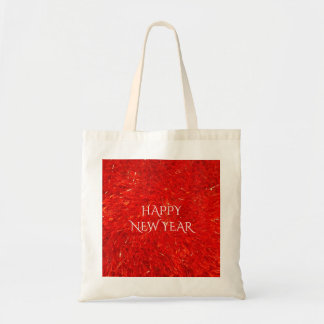 Festive Bright Red Color Happy New Year Text