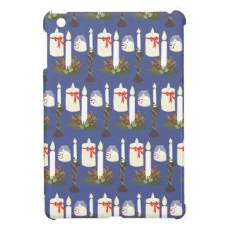 Festive Candle Print Blue iPad Mini Cases