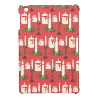 Festive Candles Print Red iPad Mini Cover