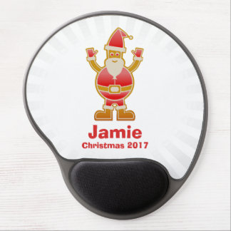 Festive Cartoon Santa Gingerbread Cookie Customize Gel Mouse Pad