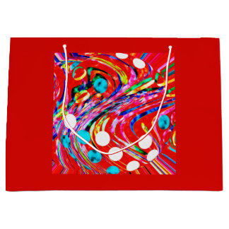 Festive chaos large gift bag