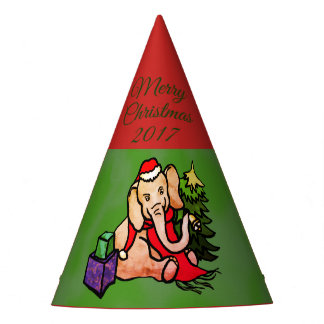 Festive Charming Sweet Cartoon Christmas Elephant Party Hat