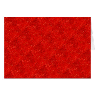 Festive Chic Bright Red Color Pattern Card