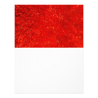 Festive Chic Bright Red Color Pattern Customized Letterhead