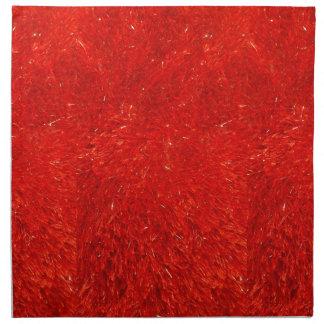 Festive Chic Bright Red Color Pattern Napkin